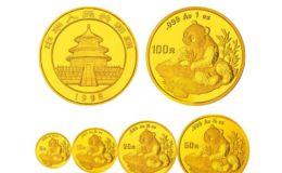 1998年熊猫金币5枚套装1998年金套猫价格