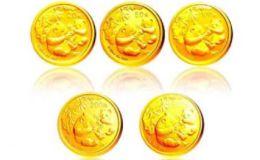 2006年熊貓金幣5枚套裝2006年金套貓