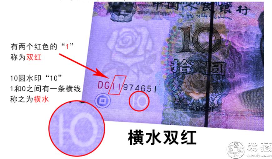 1999年10元横水双红一 价格多少