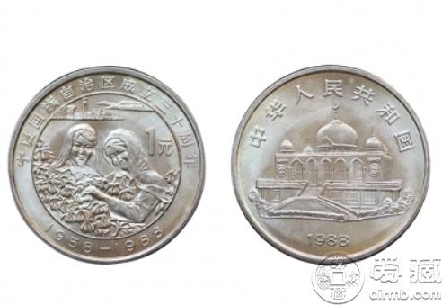 宁夏回族自治区成立30周年纪念币 价格稳涨