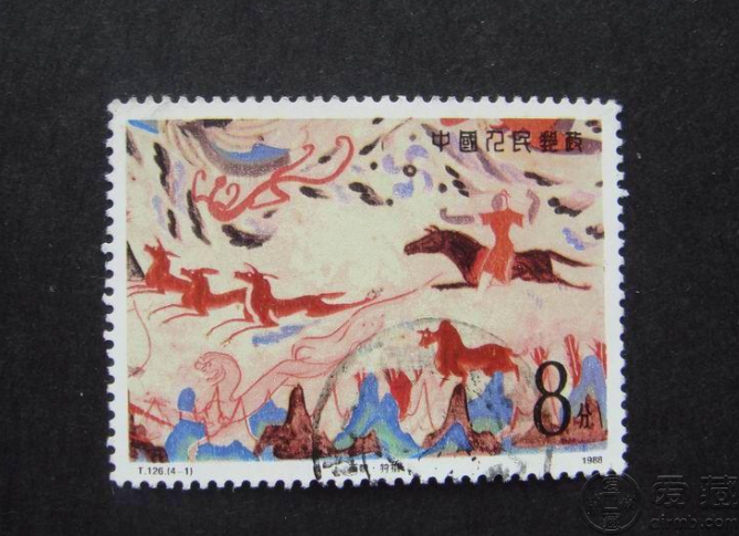 T126壁画二邮票价格 T126 敦煌壁画(第二组) 大版票价格