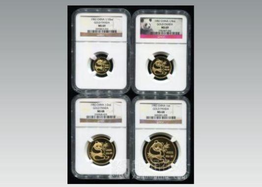 1982年熊貓金幣4枚套裝價格 1982年金套貓回收價格