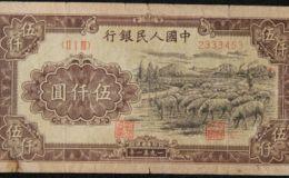 第一套人民币5000元牧羊价格 价格行情算高吗
