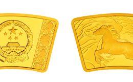 2014年马年生肖金银币1/3盎司扇形金币 成交价