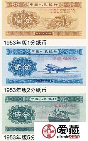 第二套人民币纸分币介绍