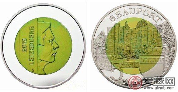 卢森堡发行博福尔城堡铌纪念币