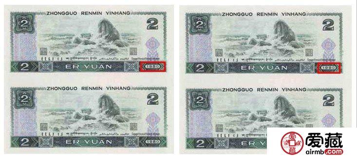 1990年2元人民币投资