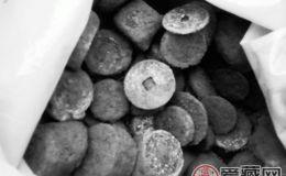 工地挖出铜钱,上百村民哄抢