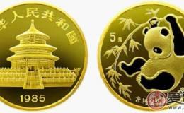1985年版中国熊猫金币图片鉴赏