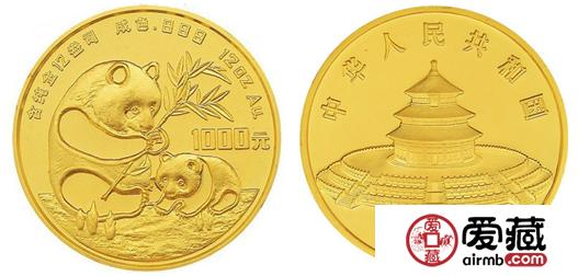 1986年版12盎司中国熊猫金币