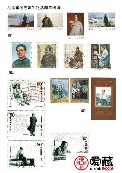 历年来毛泽东诞辰周年邮票