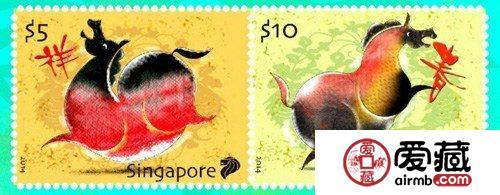 新加坡马年纪念邮票骏马体形似烧鸡?