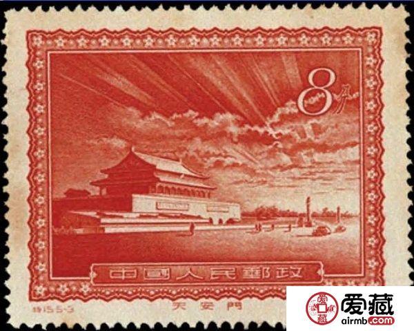 错了更显珍贵的T15天安门放光芒错版邮票