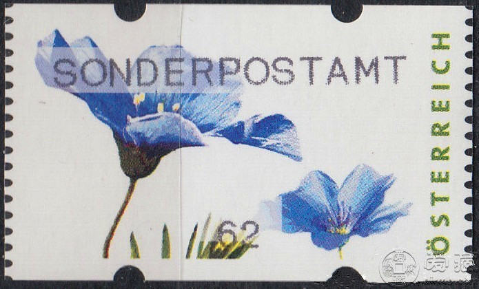 奥地利花卉电子邮票