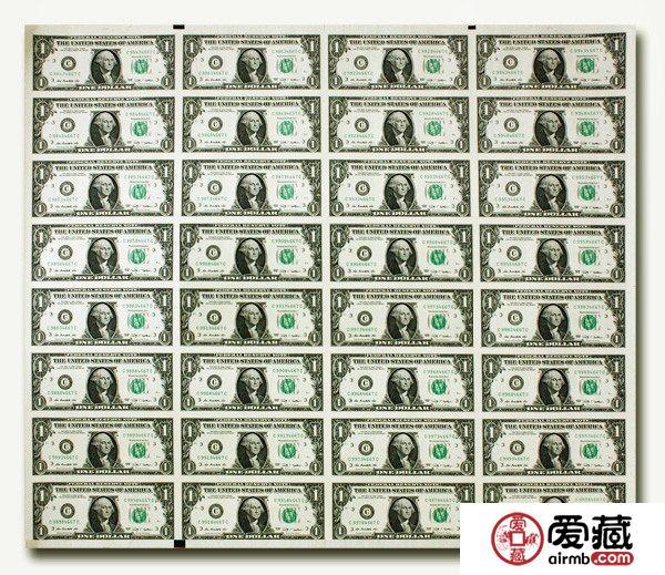 美元32连体钞收藏价值大家谈