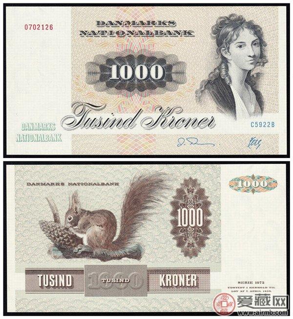72版丹麥1000克朗