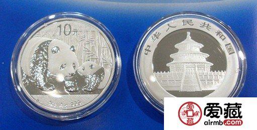 熊猫银币在银价大跌中暴涨