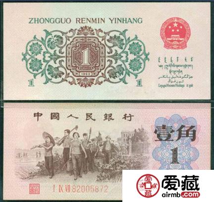 1角纸币价格表与图片详情