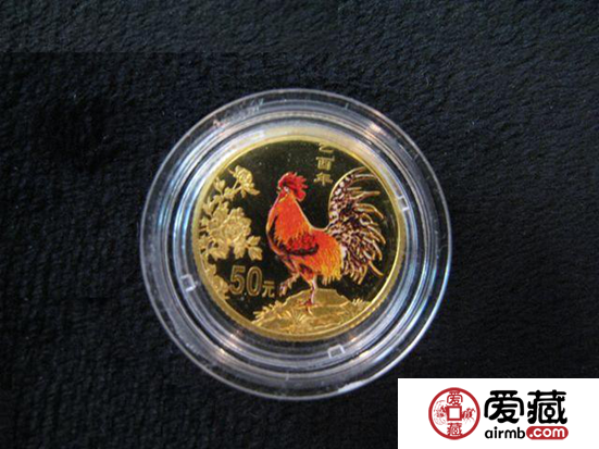 2005年(错版)彩金鸡1/10盎司彩金币价格图片