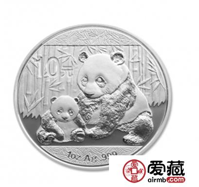 1盎司熊猫银币价格图片