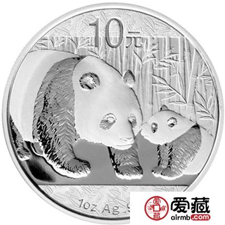 2011版熊猫金银纪念币1盎司银币图片价格