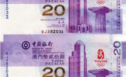 奥运四连体钞图片与价格
