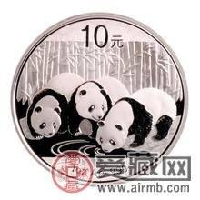 熊猫银币价格的跌涨