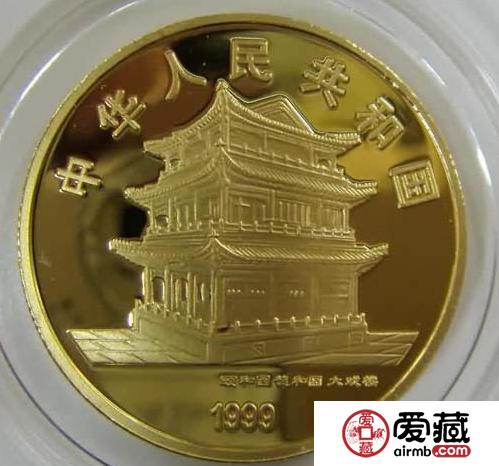 1999年贵妃醉酒京剧1/2盎司彩金币图片及价格
