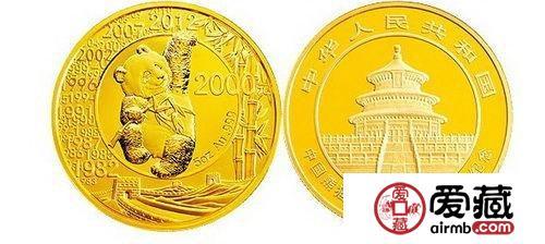 2012年熊猫发行30周年5盎司金币
