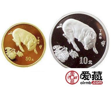 本色金银猪纪念币的图片价格