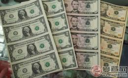 越来越受追捧的一美元四连体钞