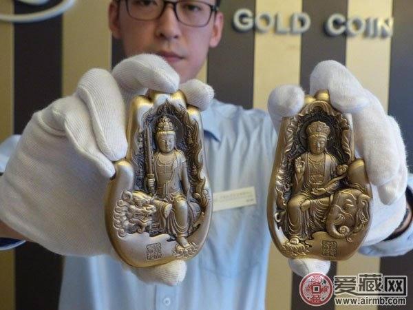 中国金币总公司第二组佛像纪念章上市 好寓意受市民热捧