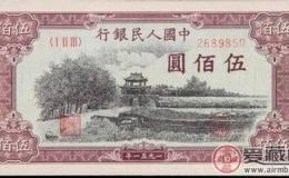 收購1951年500元瞻德城行情