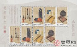 赏析文房四宝丝绸邮票,文化艺术的瑰宝