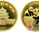 1987年版5盎司熊猫金币(精)