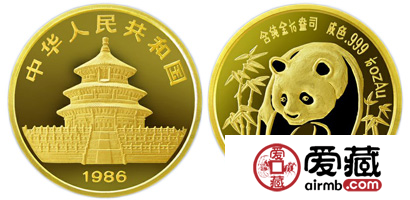 1986年版1/10盎司熊猫激情乱伦