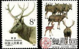 T132 麋鹿(有齿)邮票
