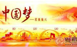 中国梦二组小型张收藏
