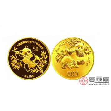熊猫金币30年(5枚套)大全套(1982~2011年)的收藏情况