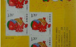 第三轮生肖猪赠版邮票的行情