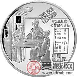 存世少的铂金古代科技发明(1—3组)金银币价值很高
