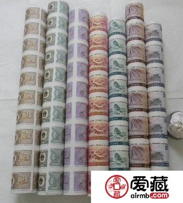 第四套人民币整版连体钞大炮筒如今价值不菲