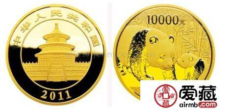 非凡意义的钱币之一2011年熊猫金币套装
