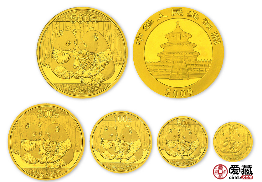 2009年熊猫金币套装价值越来越高