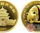 1987年版1/4盎司熊猫金币(精)