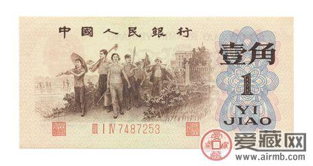 第三套人民币1角背绿水印辨别真伪方法