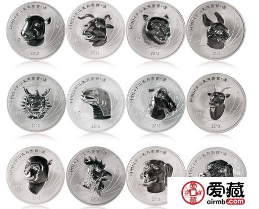 十二生肖獸首銀幣收藏價值極高