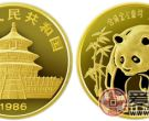 1986年版1/2盎司熊猫金币