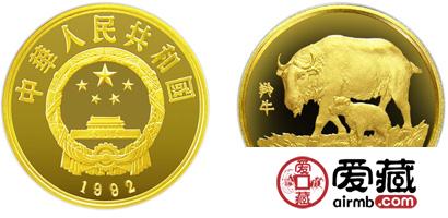珍稀动物第(3)组纪念金币:羚牛