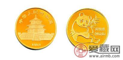 1982版1/10盎司熊猫纪念金币